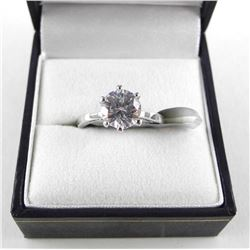 925 Silver, Solitaire Ring with Swarovski Elements