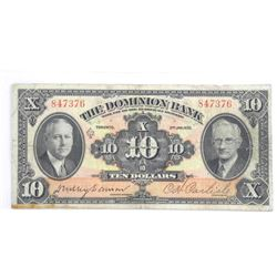 1935 Dominion Bank $10.00.