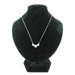 925 Silver Necklace Channel Set Swarovski elements