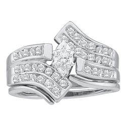 0.53 CTW Marquise Diamond Bridal Engagement Ring 14KT White Gold - REF-79X4Y