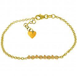 Genuine 1.55 ctw Citrine Bracelet Jewelry 14KT Yellow Gold - REF-55N3R
