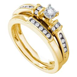 0.20 CTW Diamond Bridal Wedding Engagement Ring 14KT Yellow Gold - REF-52Y4X