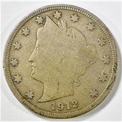 1912-S LIBERTY NICKEL, FINE