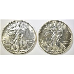 (2) 1944-S WALKING LIBERTY HALF DOLLARS