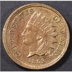 1863 INDIAN CENT AU
