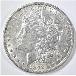 1892-O MORGAN DOLLAR AU