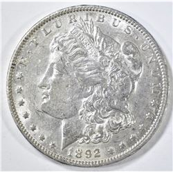 1892-O MORGAN DOLLAR AU