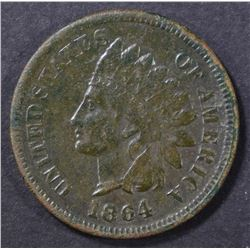 1864 L INDIAN HEAD CENT  VF WITH CORROSION