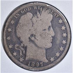 1897-O BARBER HALF DOLLAR  KEY DATE  AG/G
