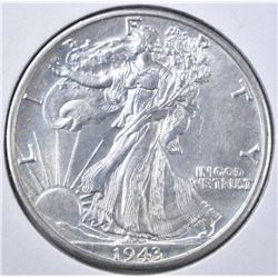 1943-D WALKING LIBERTY HALF DOLLAR  CH UNC