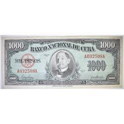 1950 CUBA $1000 PESOS