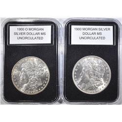 1900 & 1900-O MORGAN DOLLARS  BU