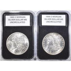 1898-O & 1899-O MORGAN DOLLARS  BU