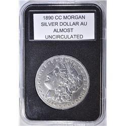 1890-CC MORGAN DOLLAR  AU