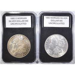1885 & 1885-O MORGAN DOLLARS  BU