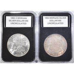 1884 & 1884-O MORGAN DOLLARS   BU