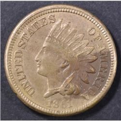 1861 INDIAN CENT   CH AU
