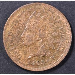 1865 INDIAN CENT   AU/BU