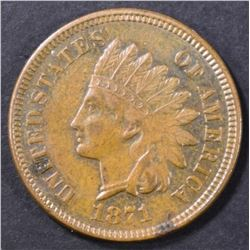 1871 INDIAN CENT   XF