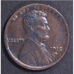 1912-D LINCOLN CENT   CH BU BN