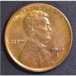 1912-S LINCOLN CENT  CH BU RB