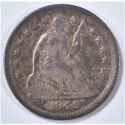 1849-O SEATED LIBERTY HALF DIME  XF  RARE