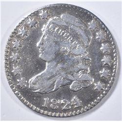 1824/2 BUST DIME  VF