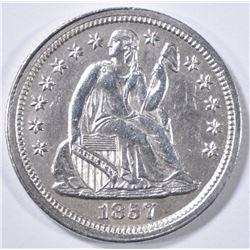 1857 SEATED LIBERTY DIME  BU