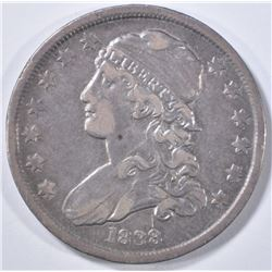1838 BUST QUARTER   XF