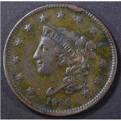 1836 LARGE CENT, VF