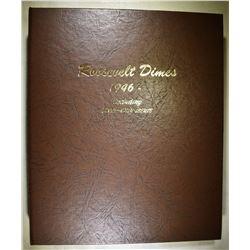 1946-2016-S ROOSEVELT DIME SET IN DANSCO ALBUM:
