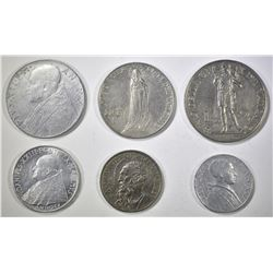 GROUP OF VATICAN COINS