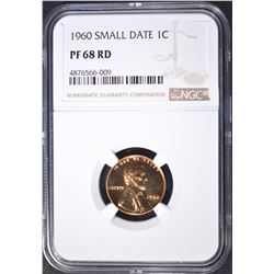 1960 SMALL DATE LINCOLN CENT NGC PF-68 RD