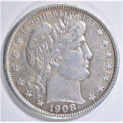 1908 BARBER HALF DOLLAR  AU