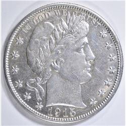 1915 BARBER HALF DOLLAR   AU