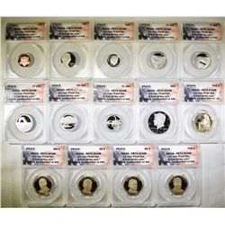2014-S 14-COIN PROOF SET  ANACS PR-70 DCAM