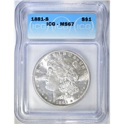 1881-S MORGAN DOLLAR  ICG MS-67