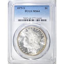 1879-S MORGAN DOLLAR  PCGS MS-64