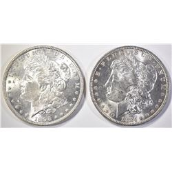 1884-O & 1896 MORGAN DOLLARS  CH BU