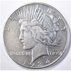 1934-S PEACE DOLLAR   AU