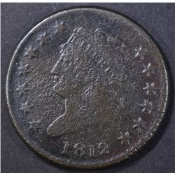 1812 LARGE CENT, FINE CORROSION