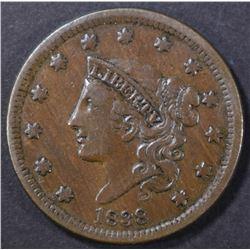 1838 LARGE CENT HIT REV
