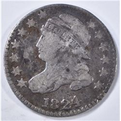 1824/2 BUST DIME, FINE