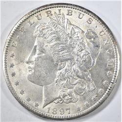 1897-S MORGAN DOLLAR CH BU