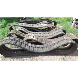 Qty 10 Used Mini Excavator Tracks