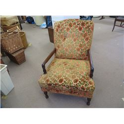 LADIES OCCASIONAL CHAIR, UPHOLSTERED