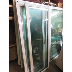 SET OF 12 PATIO WINDOWS, DOOR AND FRAME