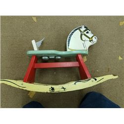 CHILD'S ANTIQUE ROCKING HORSE