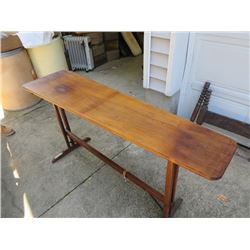 "ANTIQUE ""ACME SKIRT BOARD"" IRONING BOARD TABLE"