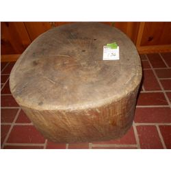 LARGE TREE TRUNK CHOPPING BLOCK